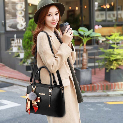 PU Leather Top-handle Women Handbag Solid Ladies Lether Shoulder Bag Casual Large Capacity Tote Crossbody Bags