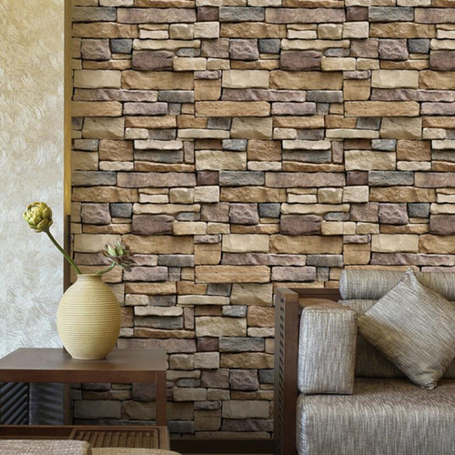45*100cm 3D Antique Stone Self adhesive Wallpaper Waterproof Stone Wall papers Brick Wall Paper Decorative Wall Stickers