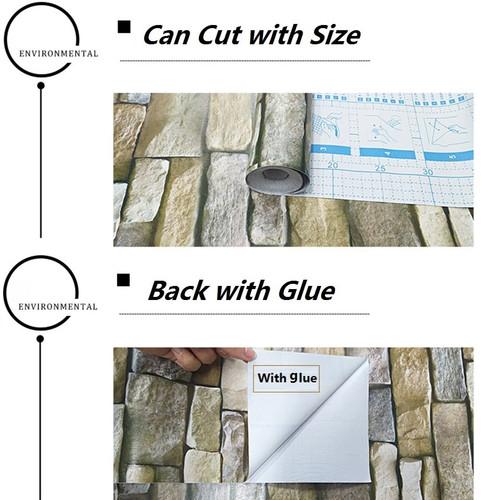 PVC Vintage Brick Waterproof Self adhesive Wallpaper Peel and Stick For Living Room Decor Bedroom Wall Decor Vinyl Wall Paper