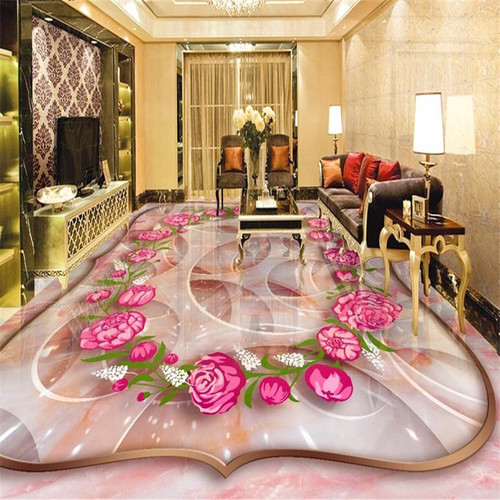 beibehang Rose marble three-dimensional jade carving 3d flooring tile painting papel de parede para quarto 3d wallpaper tapety