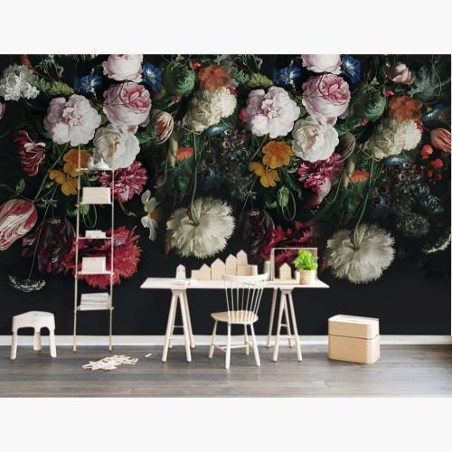 Custom Flower Photo Wallpaper Mural Behang Home Decor Papel De Parede 3D Living Room Bedroom Self Adhesive Vinyl/Silk Wallpaper