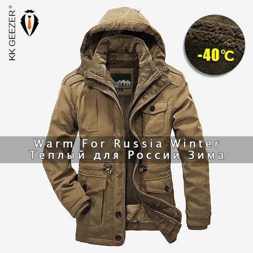 Winter Jacket Men Parkas Top Warm Waterproof Big Size 2018 Thicken Male Heavy Wool 2 in 1 Coat High Quality Fleece Cotton-Padded
