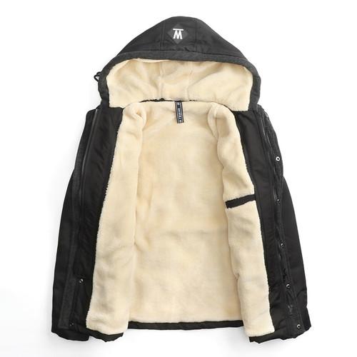 HMILY New Arrival Top Quality Men Warm Parkas Heavy Wool Men Winter Jacket Brand Hooded Durable Jacket