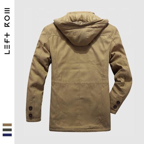 2018W High Quality Jacket Men Parkas Top Warm Waterproof Big Size 2018 Thicken Male Heavy Wool 2 In 1 Coat  Fleece Cotton-Padded