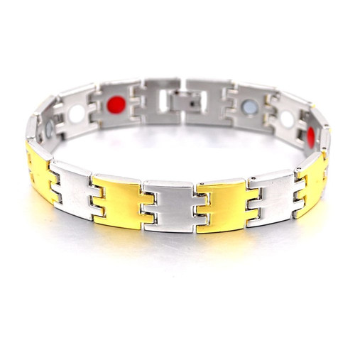 2018 Healing Magnetic Copper Energy Bracelet For Men Blood Pressure Accessory Men Silver Bracelets Fashion Jewelry