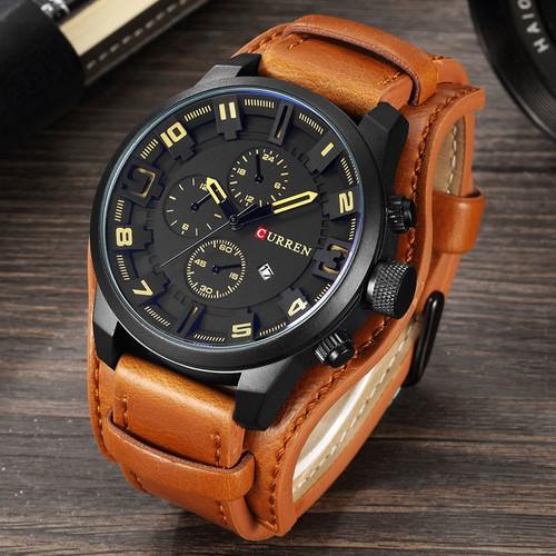 relogio masculino CURREN Watch Men Military Quartz Watch Mens Watches Top Brand Luxury Leather Sports Wristwatch Date Clock 8225