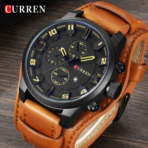 2018 CURREN Mens Watches Top Brand Luxury Fashion Casual Sport Quartz Watch Men Military WristWatch Clock Male Relogio Masculino