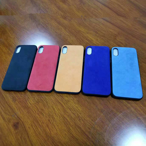 Original Italian Suede Like Leather Fabric Back Cover Luxury Phone Housing Shell Case for Samsung Galaxy S8 S9 Plus Note 8 9