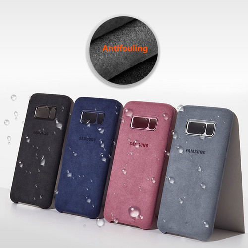 Samsung Galaxy S8 S8 Plus Case Original Official Luxury Full Protection Suede Leather Cover Samsung S8 + Anti-fall Case Coque