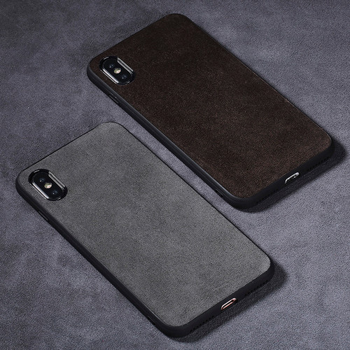 For iPhone X case Suede leather all-inclusive Ultra slim shock-resistant back cover For iPhone 6 6S 7 8 Plus SE 5 5S phone case
