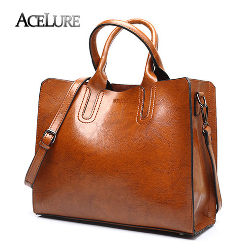 ACELURE Leather Handbags Big Women Bag High Quality