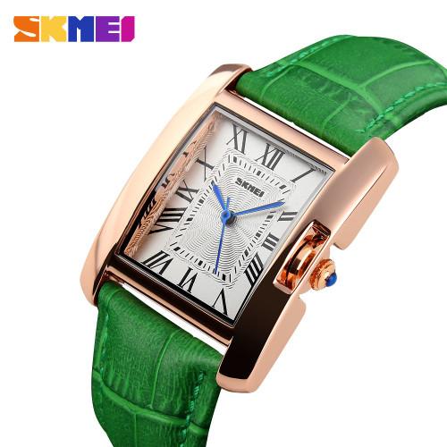 2018 SKMEI Watch Women Brand Elegant Retro Watches Fashion Ladies Quartz Watches Clock Women Casual Leather Women's Wristwatches