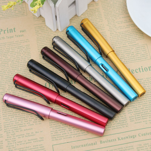 HOT Aluminum Alloy Fountain Pen Extra Fine Nib 0.38mm Metal Pen Gifts For Friend Student Kids School Office Supplies
