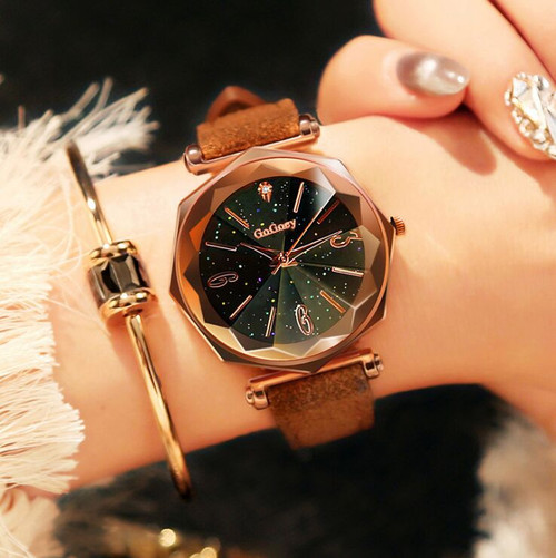 Hot Sales Fashion Gogoey Brand Rose Gold Leather Watches Women Ladies Dress Quartz Wristwatch Relojes Mujer go4418