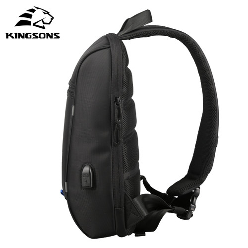 Kingsons High Capacity Chest Bag For Men&Female Canvas Sling Bag Casual Crossbody Bag For Short Trip