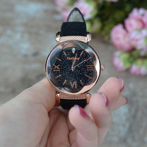 2018 New Fashion Gogoey Brand Leather Watches Women ladies dress Personality romantic starry sky quartz wristwatch reloj mujer