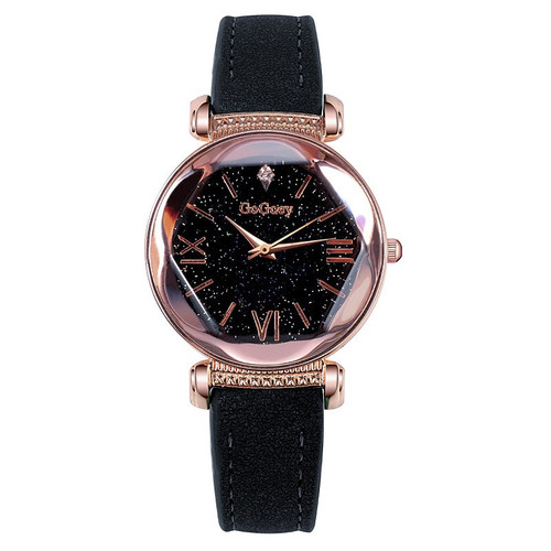 2018 New Fashion Gogoey Brand Leather Watches Women ladies dress Personality romantic starry sky quartz wristwatch reloj mujer