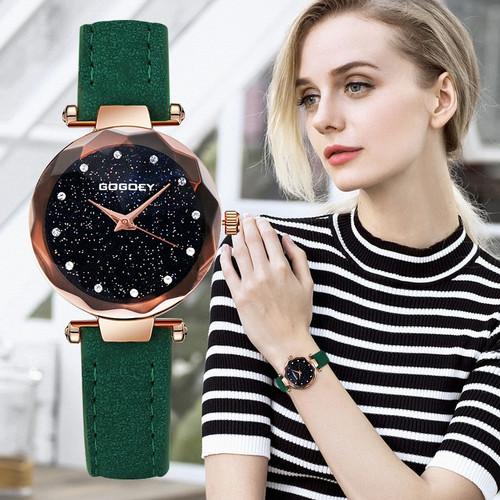 Gogoey Women's Watches 2018 Luxury Starry Sky Wrist Watch Top Brand Ladies Watches For Women Rhinestone bayan kol saati