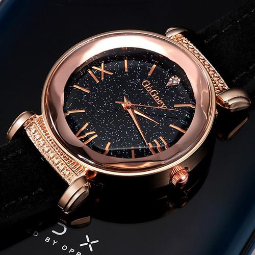Gogoey NEW Women's Watches 2018 Luxury Brand Ladies Watch Personality Romantic Starry Sky Wrist Watch Leather Rhinestone Clock