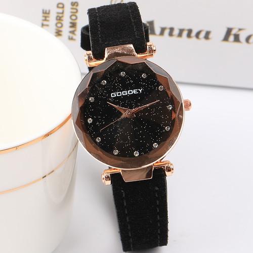 2018 Top Brand Luxury Women Watches Fashion Dress Ladies Watch Rose gold Star dial Design Leather Strap Quartz Watch Clock Women