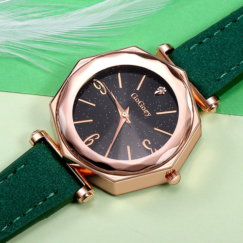2018 New Fashion Brand Gogoey Ultra Thin Leather Watch Women Unique Designer Ladies Watches Reloj De Mujer Relogio Feminino