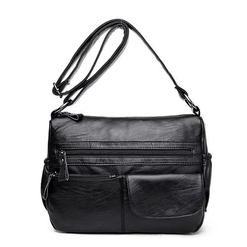 Kavard Brand Women Messenger Bags Shoulder Designer High Quality Leather Bags Women Double Zippers Crossbody Bags New Sac Femme
