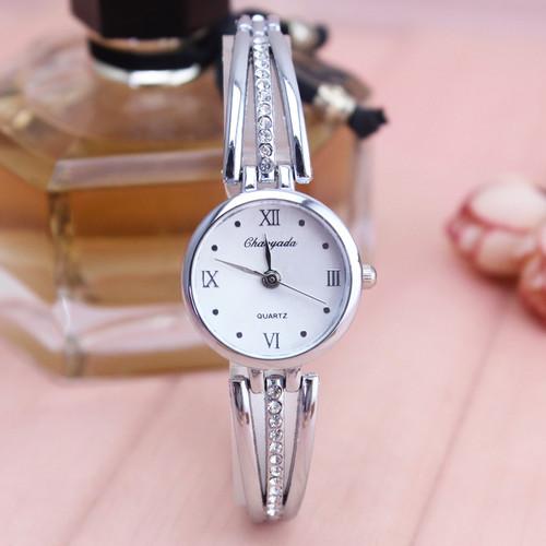 2018 luxury fashion ultra thin women gold silver watches whit diamond Roman character simple jewelry romantic female dress watc