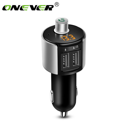 Onever Wireless Bluetooth FM Transmitter Modulator Car Radio Adapter Car MP3 Player 3.4A Dual USB Car Charger Handsfree Car Kit