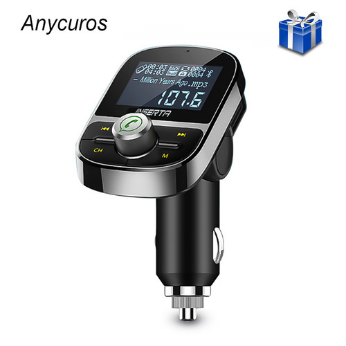 Car Bluetooth FM Transmitter Wireless Bluetooth FM Modulator Hands free Car Kit LCD Radio Audio Car MP3 Player 3.5mm aux Adapter