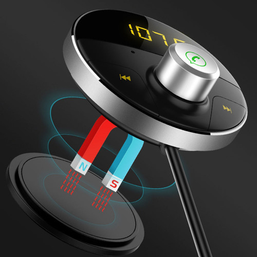 AOSHIKE Wireless Receiver Bluetooth FM Transmitter Modulator Car Kit FM Radio 12V 24V Car Charger Music Player Digital Display
