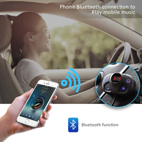 ANLUD Wireless Bluetooth Car Kit FM Transmitter Modulator Handsfree Audio Music Player USB Car Charger Bluetooth FM Transmitter