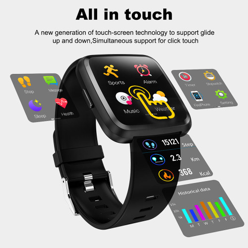 COLMI CY7 PRO Smart watch Full screen touch IP67 waterproof Bluetooth Sport fitness tracker Men Smartwatch For IOS Android Phone