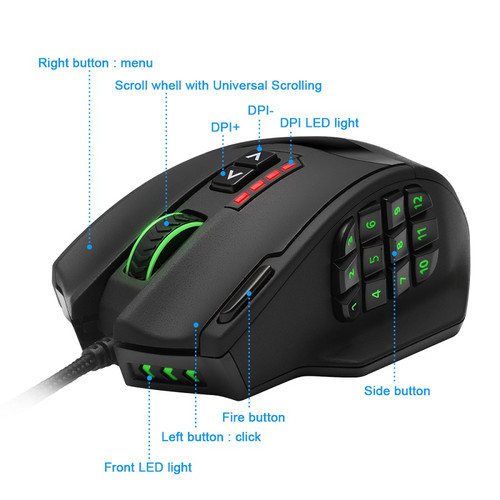 Rocketek USB wired Gaming Mouse