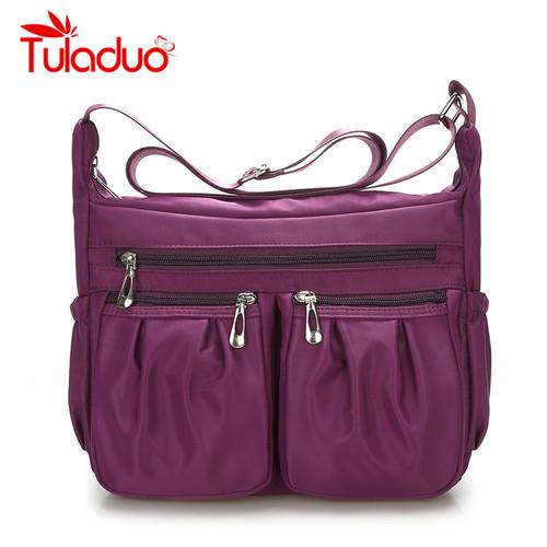 2017 New Casual Nylon Bag Shoulder Bags Messenger Multilayer Bag Waterproof Nylon Lady Mom Casual Handbag Bolsos sac a main