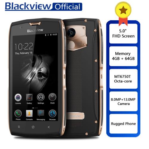 "Blackview BV7000 Pro Rugged Waterproof MT6750T Octa-core 5.0"" FHD Smartphone 4GB RAM 64GB ROM Fingerprint Phone 13.0MP Camera"