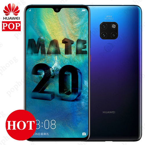 Global Version optional HUAWEI Mate 20  Full Screen 2244X1080 Kirin 980 octa core Android 9 4000 mAh  4*Camera Charger 4.5V/5A