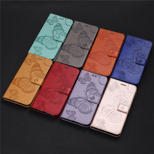 Butterfly Leather Flip Case for huawei P8 P9 P10 P20 Lite Mate 8 9 10 Y6 II Y7 Y8 Pro honor 8 9 Lite enjoy 7S 8 2016 2017 2018