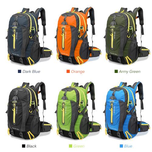 40L Waterproof Climbing Bag Travel Backpack Bike Bicycle Bag Camping Hike Laptop Daypack Rucksack Outdoor Men Women Sport Bag