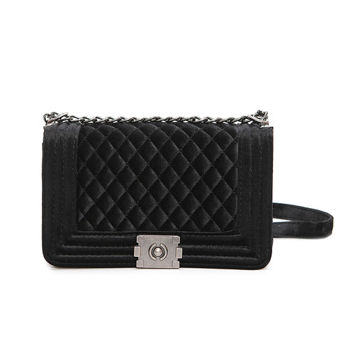 big big! handbag quilted chain bag blue Velvet Women Bags pochette sac femme Women Shoulder Bags sac a main femme crossbody bags