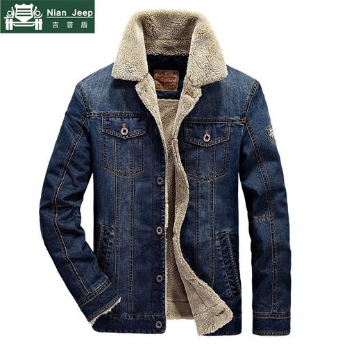 New 2018 Denim Jacket Men Brand Casual Jacket Fashion Mens Jeans Jacket Thick Warm Winter Outwear Male Cowboy Clothing M-4XL