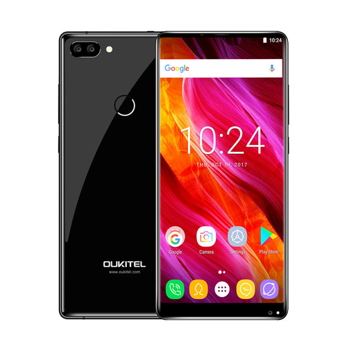 """Oukitel Mix 2 5.99""""FHD 18:9 Full Display Android 7.0 6GB RAM 64GB ROM Octa Core 21MP+13MP 9V/2A Quick Charger 4080mAh Smartphone"""