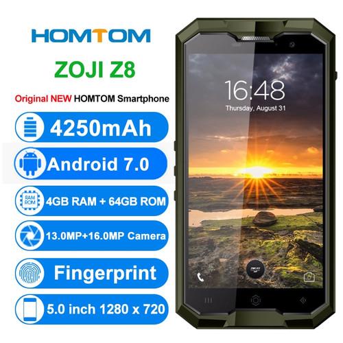 Original HOMTOM ZOJI Z8 4G IP68 Mobile Phones Android 7.0 4GB RAM 64GB ROM Octa Core Smartphone Dual SIM 5.0 inch Cell Phone