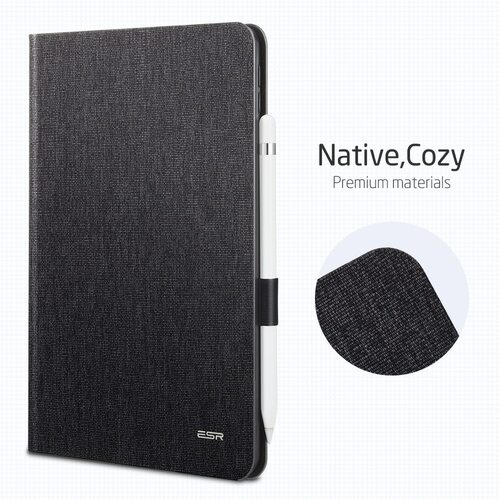 Case for IPad 9.7 2017, ESR PU Leather Smart Cover Folio Case with Pencil Holder Cover Case for New IPad 2018 Release 9.7 Inch