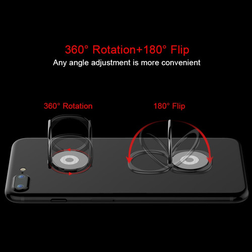 RZP 360 Rotate Magnetic Finger Ring Phone Ring For iPhone X Samsung S 9 Huawei Xiaomi Ring Car Mobile Phone Holder Stand Bracket