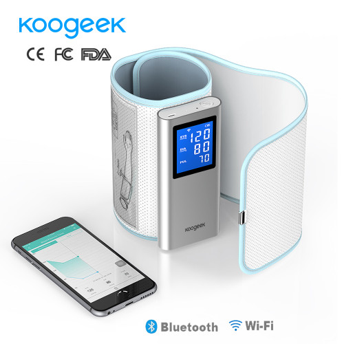 Koogeek FDA Smart Arm Blood Pressure Monitor Wifi Bluetooth Sphygmomanometer Rechargeable Blood Pressure Meter for iOS Android