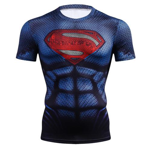 Superman T Shirt Black Panther Fitness Compression Shirt Men Bodybuilding 3D Printed Batman Spiderman Green Lantern Tshirt
