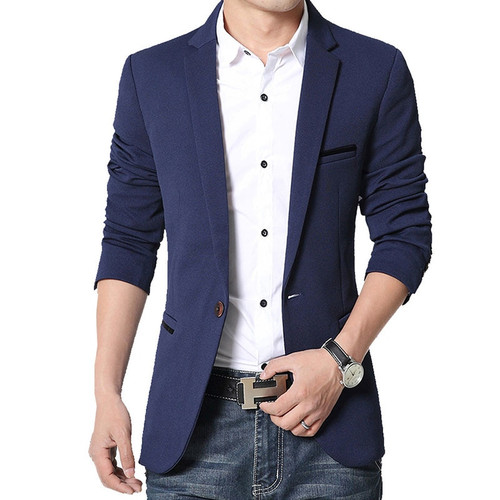 Brand Mens casual Blazers Autumn Spring Fashion Slim Fat Suit Jacket Men Blazer Masculino Clothing Vetement Homme M~5XL AF1415