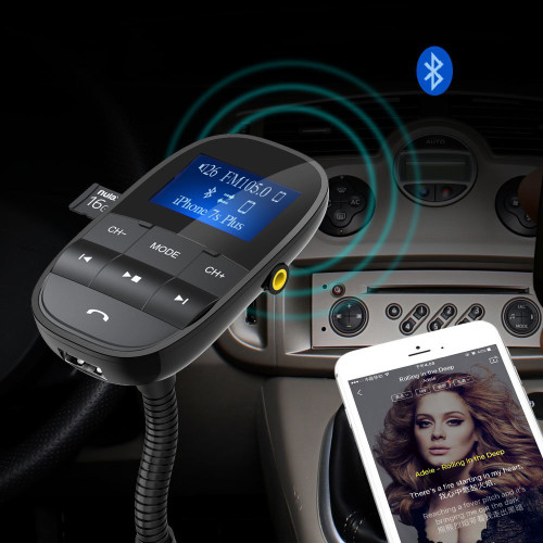 Nulaxy KM20 FM Transmitter Bluetooth FM Modulator Hands-free Car Kit MP3 Player With USB Car Charger Support Flash Drive TF Card