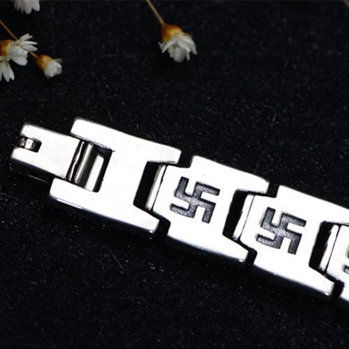 22mm 100% Pure 925 Sterling Silver Bracelets for Women Men Fine Jewelry Vintage S925 Solid Mantra Thai Silver Chain Bracelet