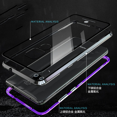 Case For huawei P20 Pro Lite Nova 3e 3i P Smart Plus Metal Magnet Glass Phone Case For Huawei Mate 20 X Pro Lite Honor Magic 2